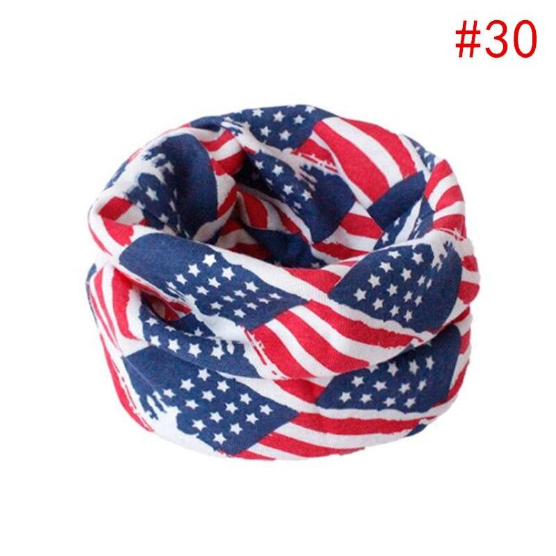 Детский хлопковый шейный шарф с милым принтом; детский теплый шарф; Детские воротники; осенне-зимний шарф-кольцо для мальчиков и девочек; аксессуары для детской одежды - Цвет: No.30