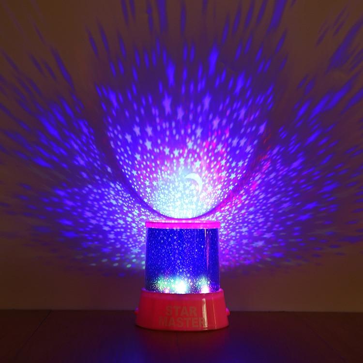 HTB1UordXifrK1RjSspbq6A4pFXan LED Night Light Lawn Garden Stage Projector Starry Sky Star Moon Master Bathroom Romantic USB Projection Lamp