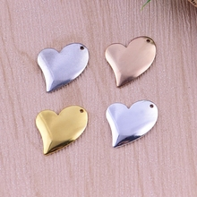 1pc Electroplating love pendant bracelet heart shaped handmade materials peach heart ornaments diy copper jewelry accessories