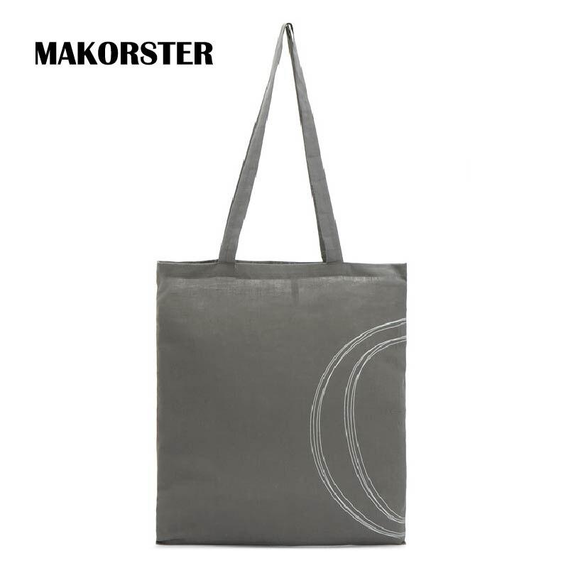 Fashion Women Shopping Bags Cotton Fabric High Quality Italy Female font b top handle b font