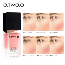 O.TWO.O Liquid Blusher 6 Color Face Makeup Silky Lasting Natural Cheek Rouge Rose Peach Red Color Shimmer Blush Cream Cosmetics все цены