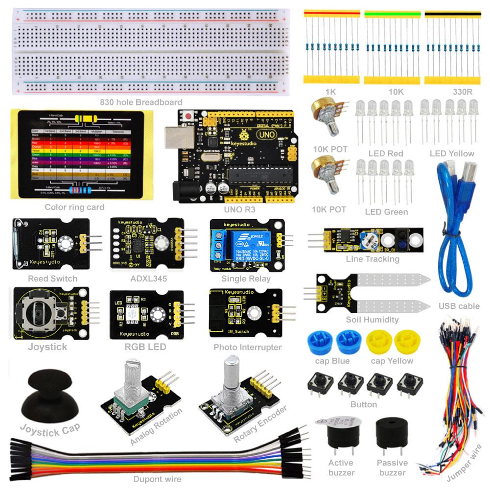 2016 NEW! Keyestudio Sensor Kit - K4 for arduino Starters with UNO R3 board