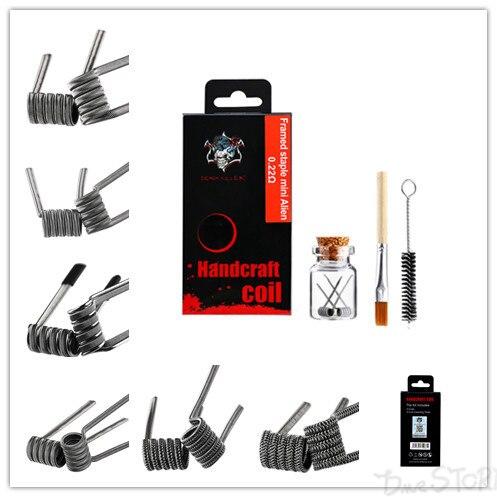 Demon Killer Handcraft Coil Handmade Heating Wire Prebuilt Coils Staple Mini Alien Mini Staggered Clapton 6 Types  Coil