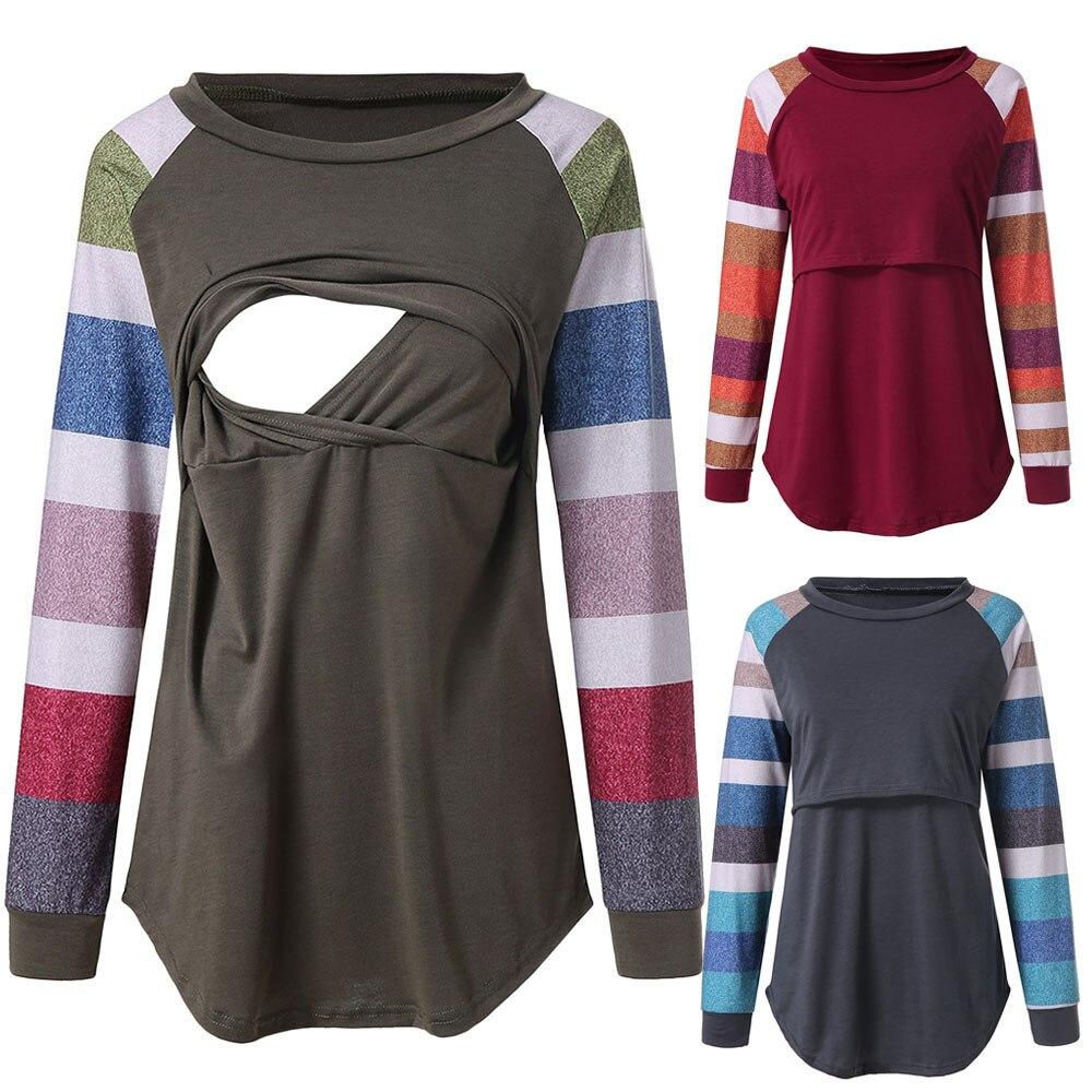 Pregnant women shirt spring and autumn maternity dress shirt pregnant women T-shirt long-sleeved designer women's clothing