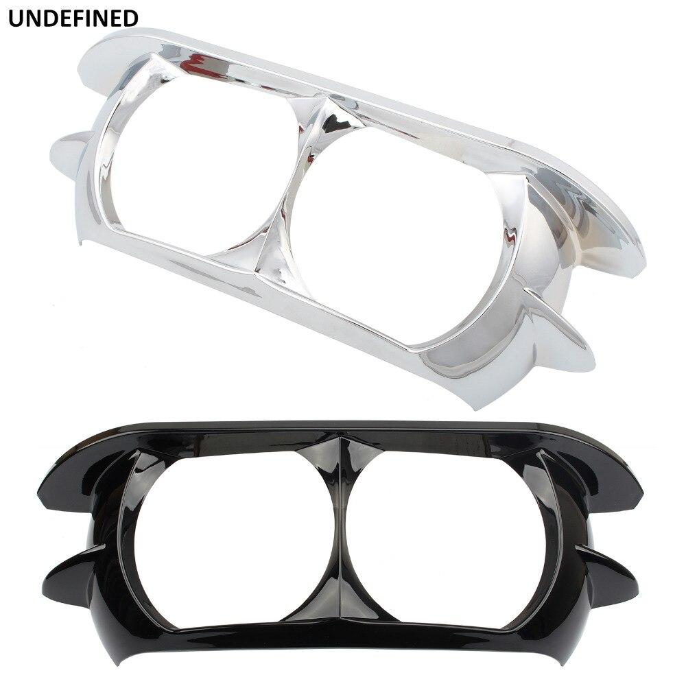 Black Motorcycle Headlamp Trim Ring Headlight Bracket For Harley Road Glide Ultra CVO FLTRUSE FLTRX Special FLTRXS 2015-2019