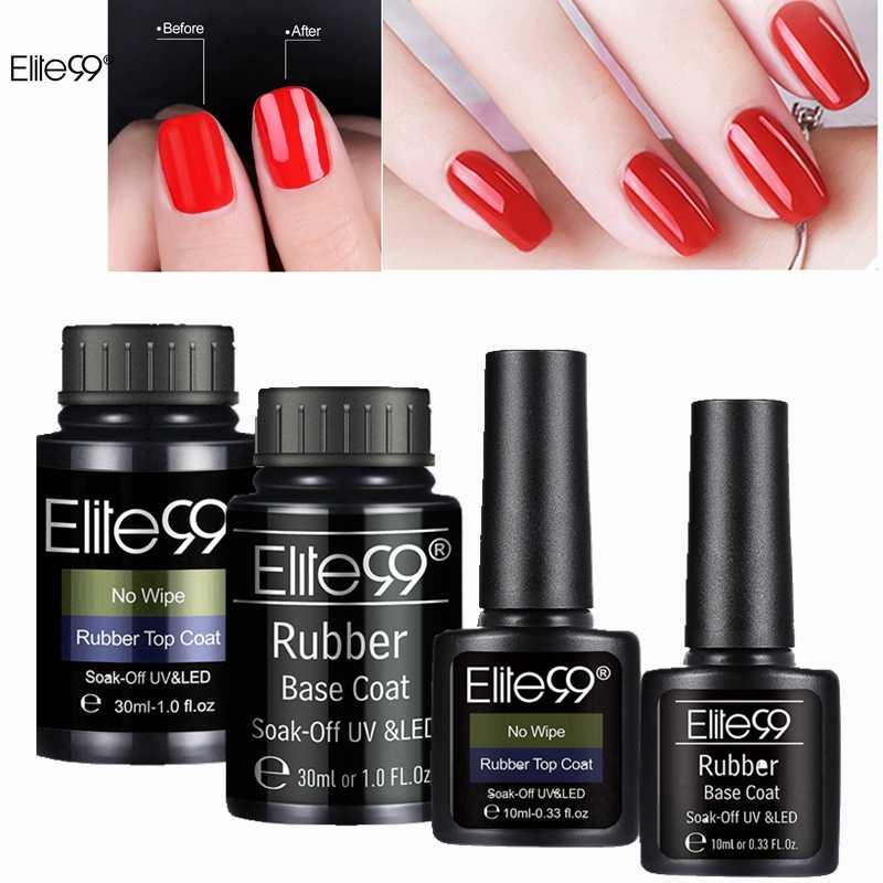 Elite99 UV Gel de secado rápido barniz Base de goma de capa superior capa Semi-permanente No limpia brillante Gel polaco Primer para el diseño de Arte de uñas