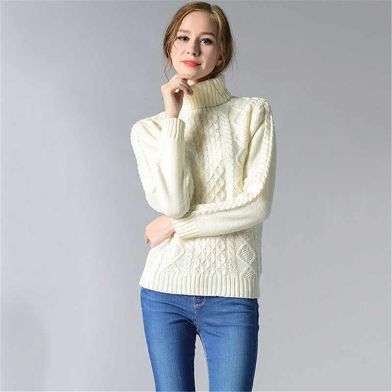 White Sweater Women Black Gray 6 Colors Plus Size Turtleneck Sweaters 2019 New Autumn Winter Fashion Long Sleeve Sweater JD360