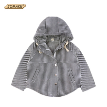 Children New Spring Autumn Jackets Kids Stripe Hooded For Girl And Boy Fashion Brand Kids Clothes Casual Toddlers Jackets Coats