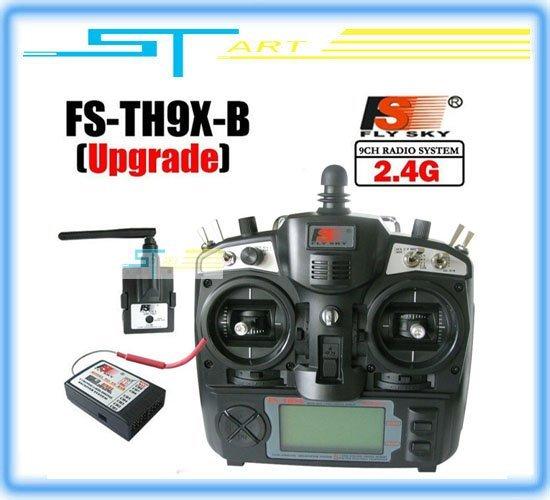 Flysky 2.4G 9ch 9 channels system FS remtoe control rc Transmitter & Receiver Combo Flysky FS-TH9X TH9XB TX + RX free shipping