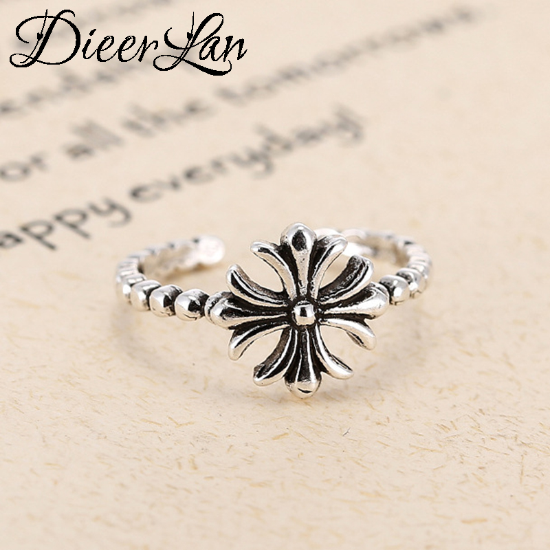 Vintage S925 Sterling Silver Cross Rings For Women Christmas Gift Finger Ring Fashion sterling-silver-jewelry