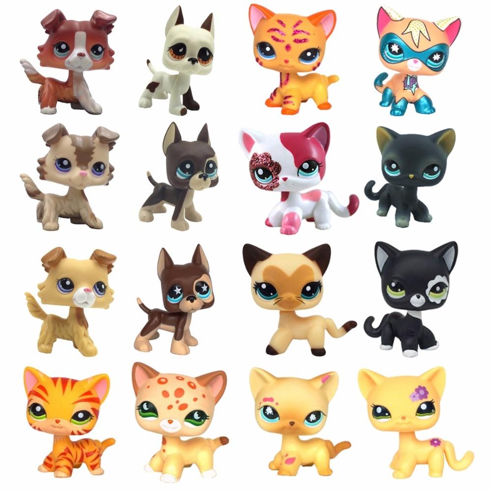 pet shop toys Standing short hair cat Yellow 3573 Black 336 2249 Dog Collie 1542 Great Dane 577 750 dachshund 640 spaniel