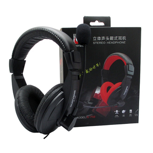 Image 5 - Stereo Bass Computer Gaming Headset On ear Wired Headphone 3.5mm AUX Earphone With Microphone For PC Phone Computer Game Skype