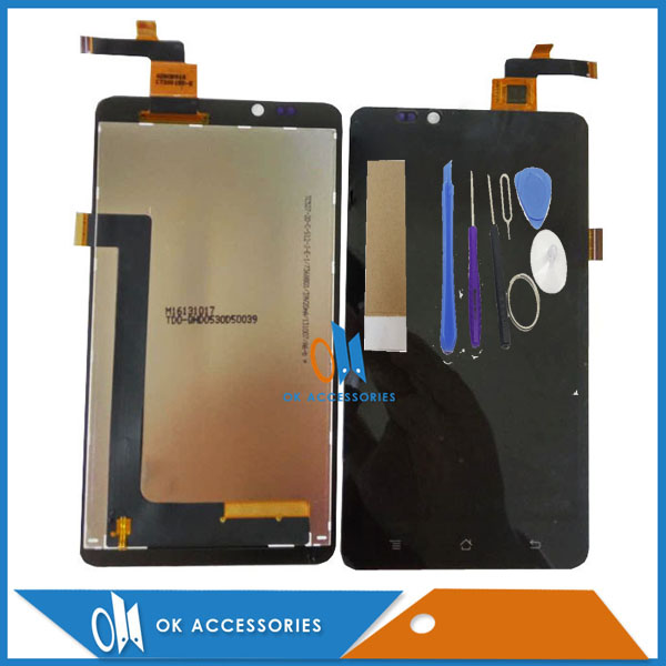For Highscreen Omega Prime XL LCD Display+Touch Screen Digitizer High Quality Black Color With Tools Tape 1PC/Lot