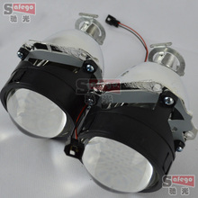 1 pair 2.5 Inches WST Bi Xenon Projector Lens Using H1 xenon lamp Easy Install for Most Cars Headlight Retrofit