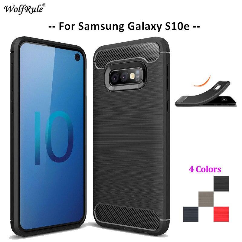 Carbon Fiber Phone Case For Samsung Galaxy S10e Case Soft TPU Cover For Samsung Galaxy S10e Phone Bumper For Samsung S10e G970