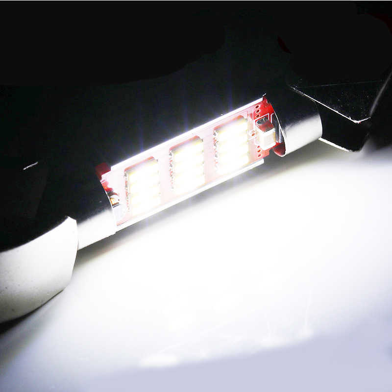 10PCS Festoon 31mm 36mm 39mm 41mm C5W CANBUS NO Error Auto Light 12 SMD 4014 LED Car Interior Dome Lamp Reading Bulb White DC12V