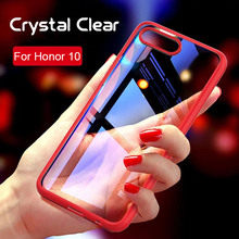 ФОТО for huawei honor 10 case 2 in 1 anti-knock phone case bag tpu pc glass transparent cover protector new arrival case for honor 10