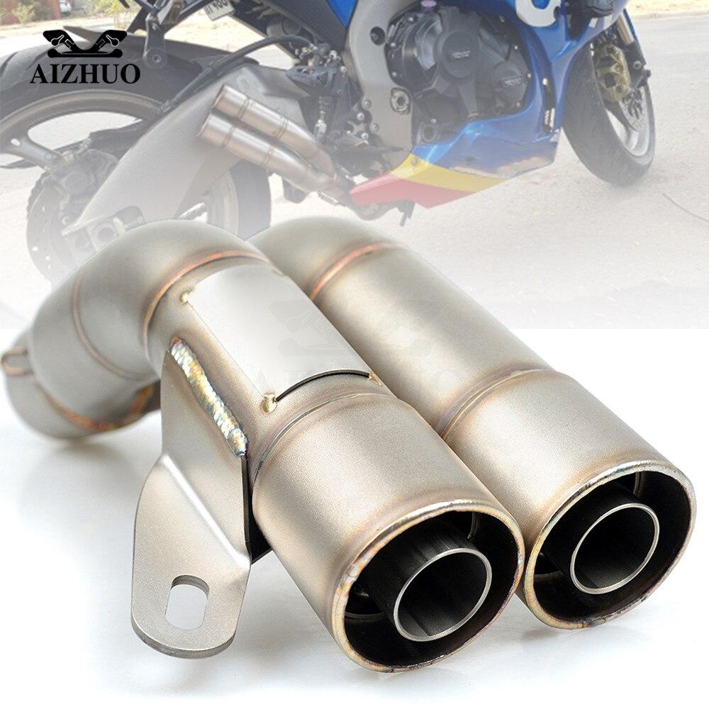 Motorcycle Exhaust 51mm Pipe For suzuki burgman gs 500 bandit 1250 ltz yamaha xt 660 xv 250 mt 07 cbr900rr mt 09 yzf r3
