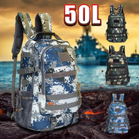 e19eff66275 Newest Large Capacity 50L Backpack Outdoor Tactical Backpack Adjustable  Durable Backpacks For Traveling Camping Hiking Running