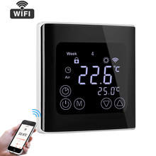 C17GH3 WIFI Thermostat App Control LCD Touch Screen Temperature Controller Programmable Thermostat Floor Heating Electric Heater(China)