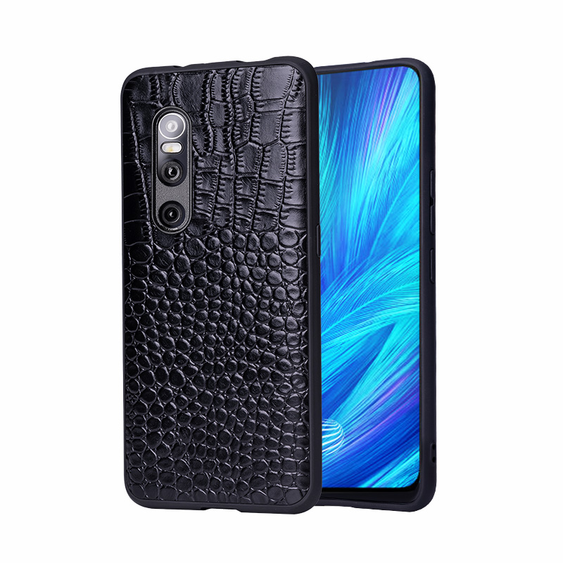 For VIVO X27 Phone Case Fitted Leather Men Women Water Proof Business Crocodile Pattern