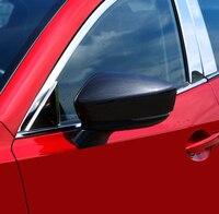 2 pçs para mazda 3 axela 2017 espelho retrovisor decorar proteção capa de fibra de carbono padrão (não é verdade)
