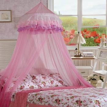 Mosquitera roja con dosel para cama HT0584, protección para mosquitos
