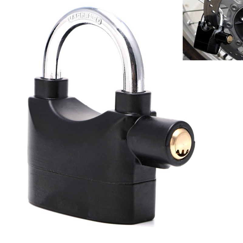 Black Waterproof Siren Alarm Padlock Alarm Lock for Motorcycle Bike Bicycle Perfect Security with 110dB Alarm трафарет schreiber комос пластиковый s 2635