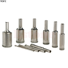 10 шт. 3 мм-20 мм Алмазные Кольцевая Пила Плитка Керамическая Мрамор Покрытием Сверло Инструмент