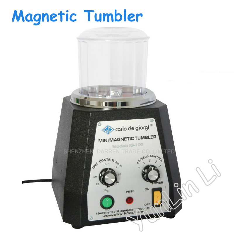 Мини магнитный массажер Магнитная шлифовальные машины алмаза полировки стакан драгоценный камень Полировальные инструменты kt-100