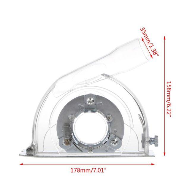 """Cubierta de corte transparente para amoladora angular y hojas de sierra de 3 """"/4""""/5"""""""