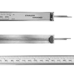 "Image 5 - 8 ""200 مللي متر فرجار رقمي الفولاذ المقاوم للصدأ الرقمية LCD الفرجار الورنية الفرجار الشحن مع التجزئة + صندوق"