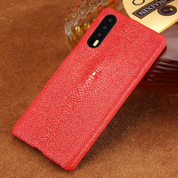 Natural Pearl Fish Skin Phone Case For Huawei P20 P20 Pro Case Genuine Leather Back Cover For Mate 10 P9 P10 Lite P Smart Case