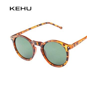 KEHU New Fashion Trend Round Sunglasses Women Multicolour Frame New Mercury Mirror Lens Glasses Men Coating Round Sunglasses Men