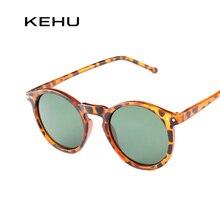 KEHU Fashion multicolour New mercury Mirror glasses guys sunglasses ladies male female finishing sunglass gold round OCUL