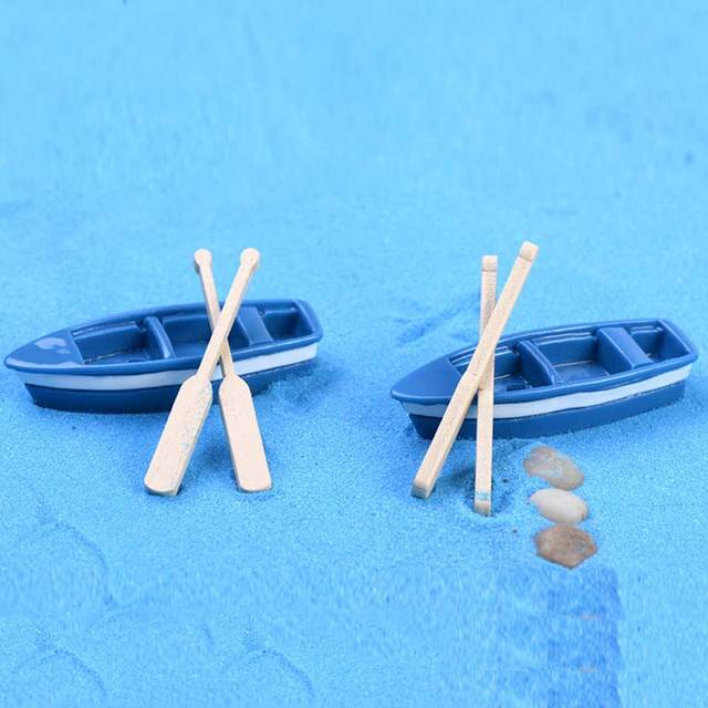 Figurines Miniatures Crafts Totoro Boat Wooden  4