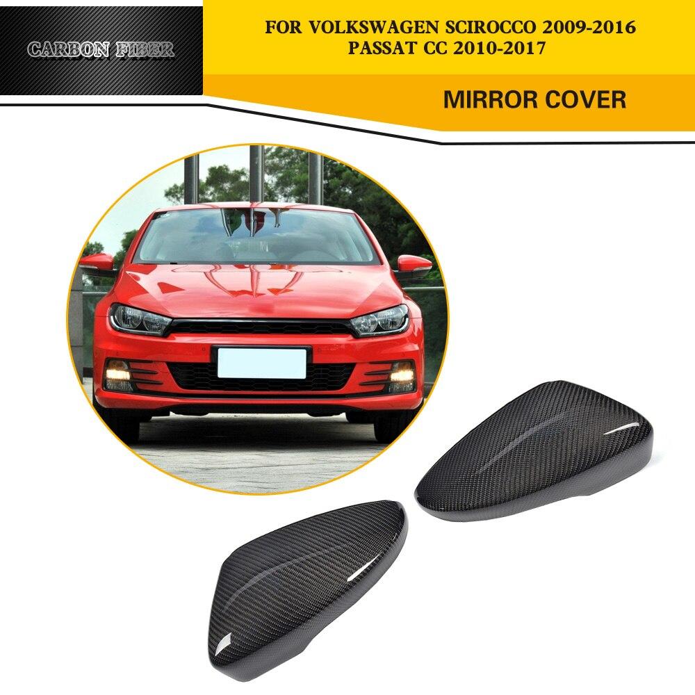 Замена для укладки карбоновых боковых зеркальных чехлов для Volkswagen VW Passat CC 09-17 Beetle Coupe 13-17 Scirocco 2008-13 Non R