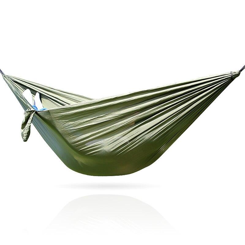 Army Green Nylon Hammock 260*140CM army green hammock 260 140cm outdoor furniture loading 300kg