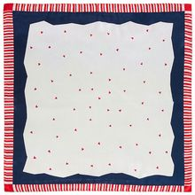60x60cm Women Faux Silk Square Neck Scarf Striped Love Heart Geometric Neckerchief Pastoral Style Decorative Bandanas Headwrap