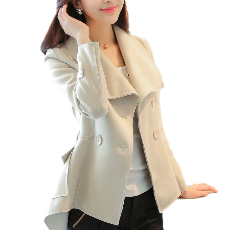 Women Autumn Winter Fashion Elegant   Suede   Slim Faux   Leather   Jacket Female Motorcycle Biker Outerwear Coats With Belt S-2XL O470