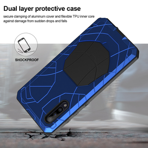 Image 4 - For Samsung Galaxy A50 A51 M51 Phone Case Hard Aluminum Metal with Tempered Glass Cover Silicon Cover For Galaxy A71