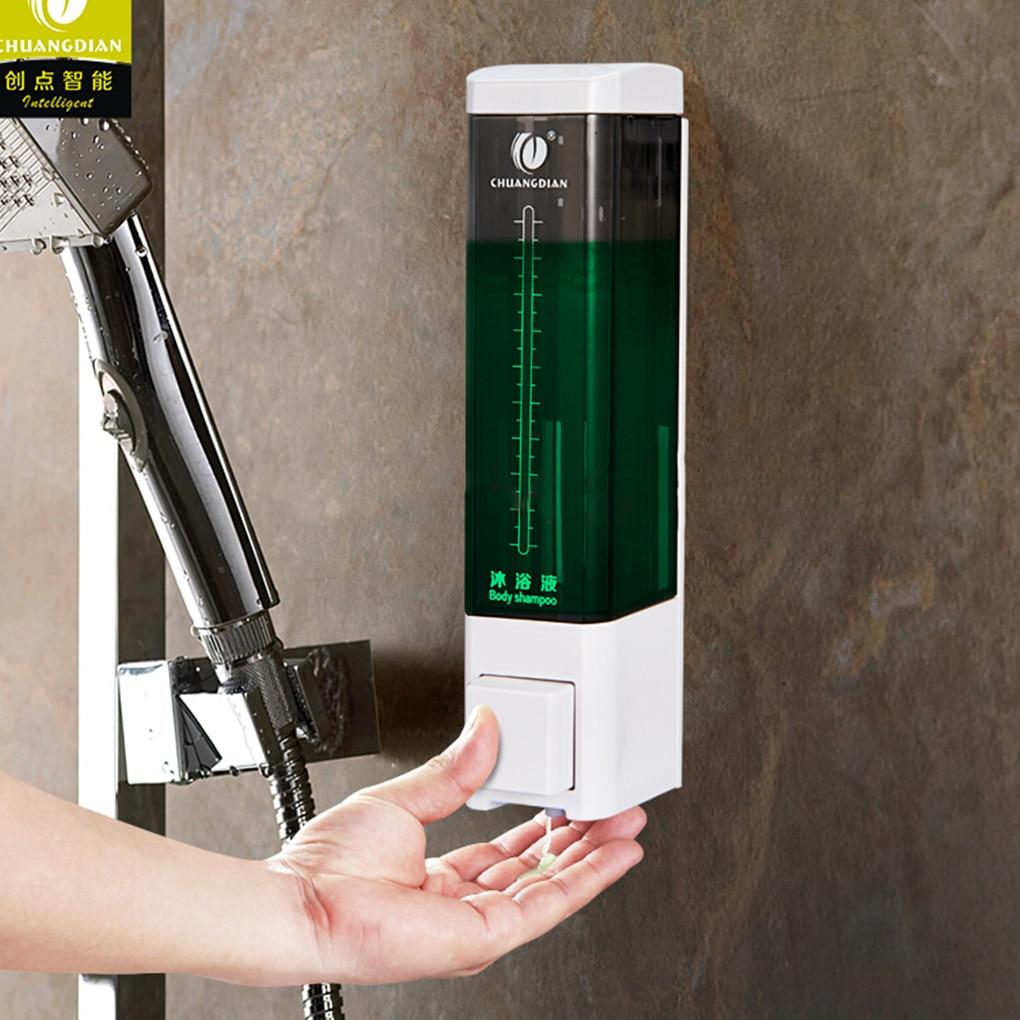 180ML Wall Mount Pump Lotion Liquid Soap Dispenser Shampoo Box For Home Hotel Bathroom Shower Room