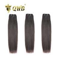 QUEEN WEAVE QWB จัดส่งฟรี Light Yaki 3 Bundle/จำนวนมาก 12 ''~ 24''P บราซิล Virgin สีธรรมชาติ hair Extension