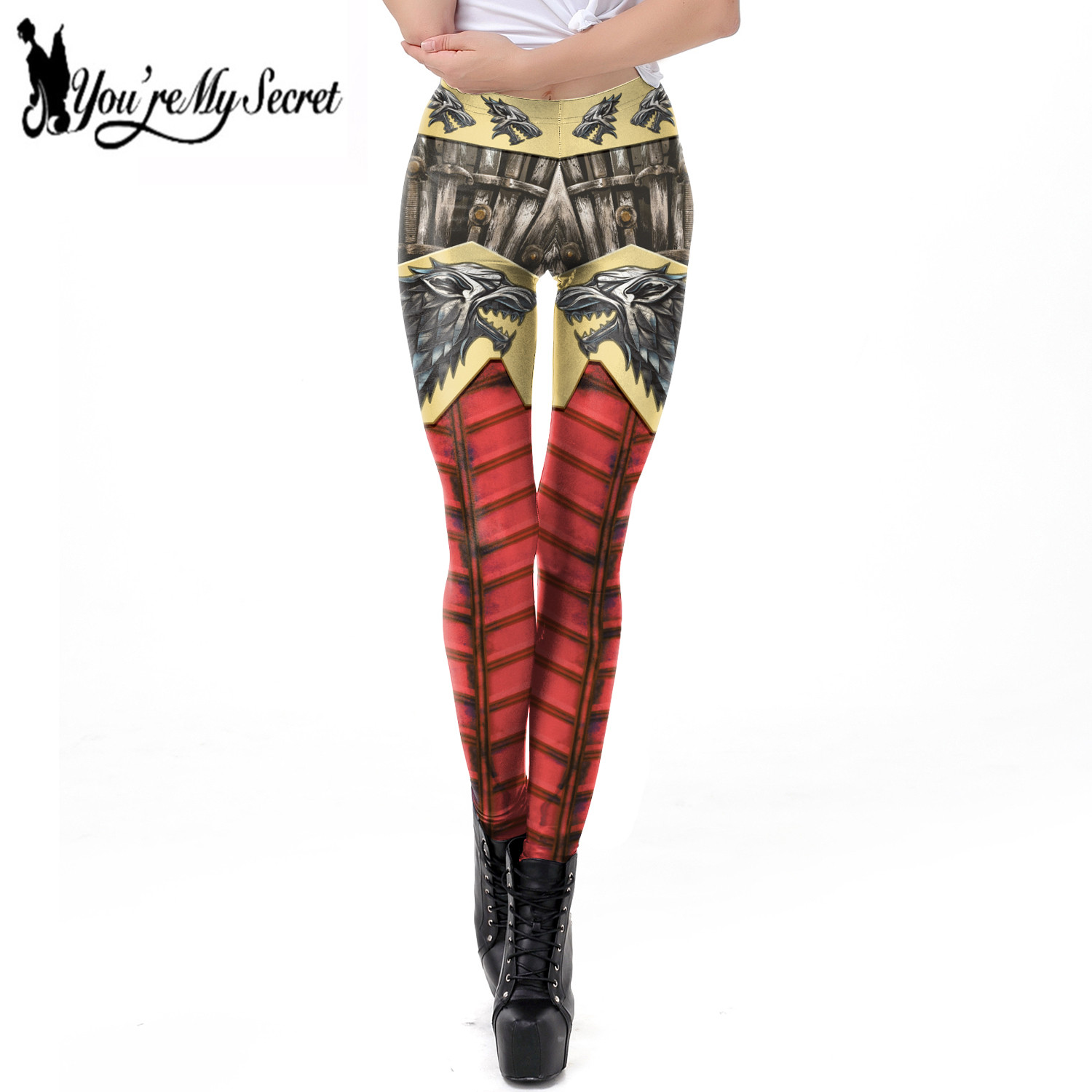 [You're My Secret] 2019 Game Of Thrones 3D Printing Dragon Women Leggings For Fitness Workout Pants Elastic Slim Sexy Leggins