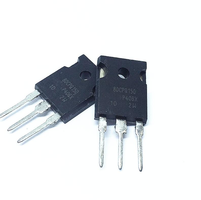 2PCS 80CPQ150 80CPQ150PBF Schottky Diode 80A 150V TO-247 Original Authentic