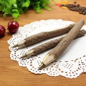 Image 4 - 36pc/lot Environmental protection wooden ball point pen / nature branch pencil / bark pen / degradable pen