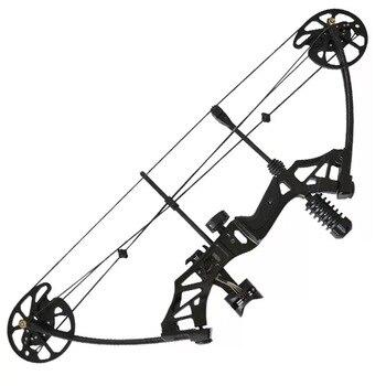 35-70lbs arco composto ajustável polia poderosa com 80% estrutura labor-saving para tiro ao ar livre caça tiro 4 cor