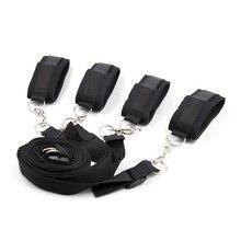 Секс Инструменты для продажи секс Legcuffs наручники на кровать сексуальные секс-игрушки БДСМ фетиш бондаж комплект интимные изделия Секс-игрушки для пар.