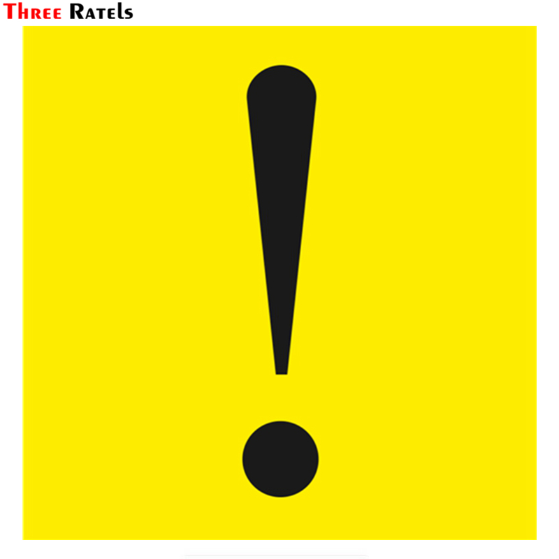 Three Ratels TZ-975#15*15cm 1-4 Pieces Exclamation Mark For A New Driver Colorful Car Sticker Auto Car Stickers