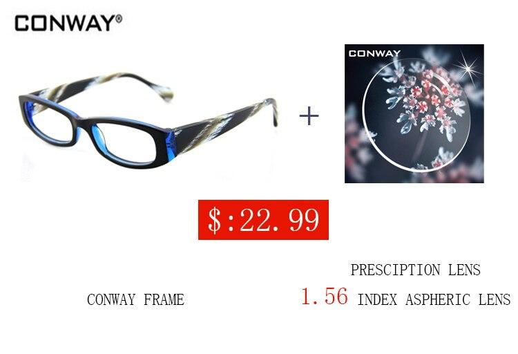 ffa8ac8e1b1 CONWAY Brand Designer Eye Glasses Acetate Frames for Men frames brand  female clear lens glasses frame women Retro fashion C8